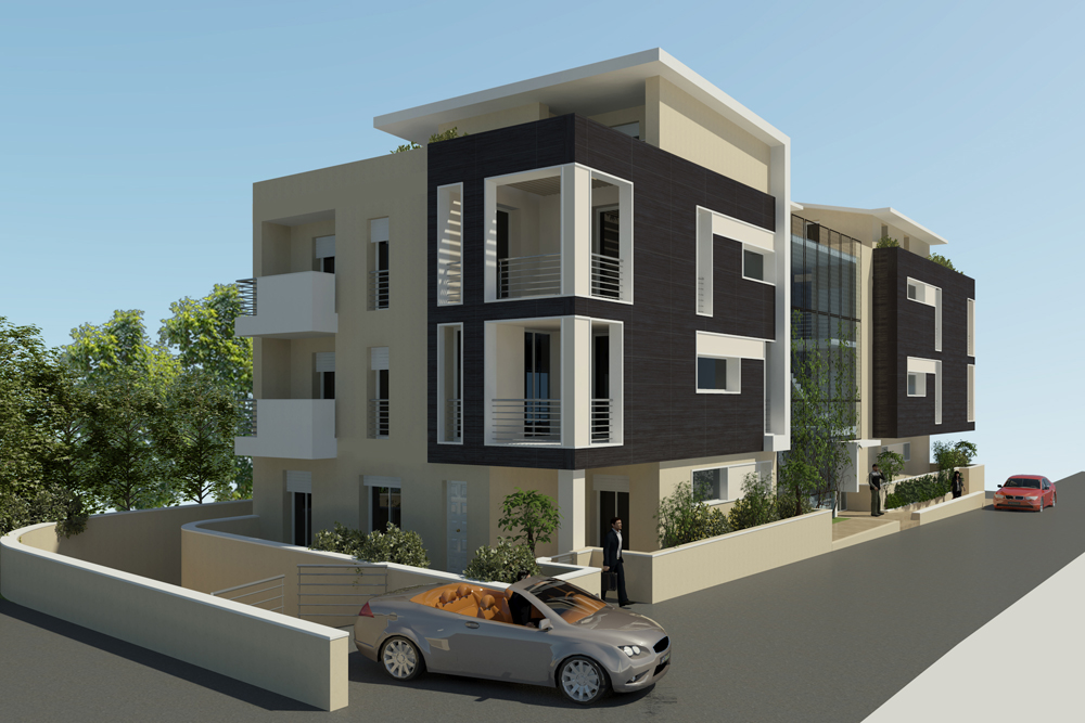 124 palazzine moderne palazzine residenziali moderne for Immagini appartamenti moderni
